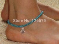 arabian bracelet - New Summer Fashion Arabian Boho Style Silver Hamsa Fatima Hand Charming Anklet Barefoot Beach Bracelet Chain Jewelry