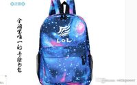 Wholesale new lol luminous school book bag cute neon colored backpacks for kids teenagers back pack bags League of Legends bag A2322