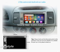 Wholesale HD Camera Android DIN Car Stereo Radio Car PC GPS Navigation Car DVD Player Audio WiFi Bluetooth SD Free G Dongle Car DVD Vid