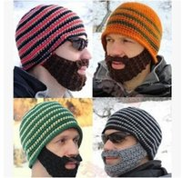 Wholesale AAAA quality New Fashion Mens beard Beanies Mens Winter knitted Beanies American styles Mens beard beanies LJJD1312
