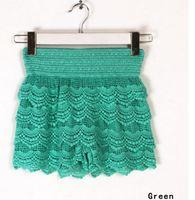 Wholesale 2015 New Woman Shorts Fashion Cotton Crochet Lace Shorts Mercerized lining Mini Lace Tiered Shorts