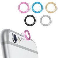 Wholesale 5 colors Cool Rear Camera Lens Metal Protective Ring Guard Circle Cover Case Protector for iPhone6 iPhone plus DHL Free