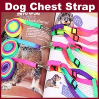Wholesale Pet Dog Leash Multicolor Traction Rope Adjustable Pet Harness Rope Chest Strap Leashes