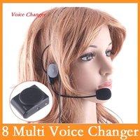 Wholesale High quality Mini Multi Voice Changer Microphone Megaphone Loudspeaker Speaker Black Dropshipping Warranty one year