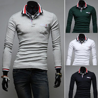 Cheap Men New Design Polos Best Long Sleeve Cotton Blend Men Polo Shirts