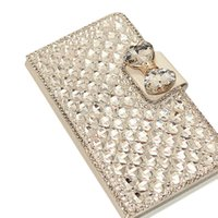 Cheap S5Q Bling Wallet case Crystal Stand Flip Leather Case For Samsung Galaxy Note 3 N9000 AAAELX
