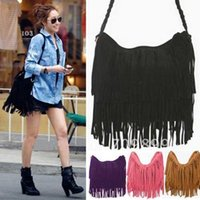 Wholesale 2016 Fashion Fringe Tassel Women s Handbags Women Messenger Bag Lady Cross Body Shoulder Bag colors