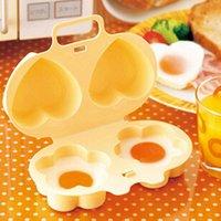Wholesale 2pcs New Egg Boilers Creative home microwave egg steamer flower love boiled eggs mini breakfast egg mold