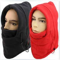 Wholesale HOT winter hat for men warm fleece hat women protected face mask ski gorros hat CS outdoor riding sport snowboard cap colors