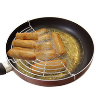 Wholesale Stainless steam rack cm Semicircular steam tray pot holder insulation lek oil rack cooking tool Q