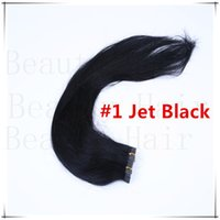 Wholesale Tape In Human Virgin Hair Extensions Seamless Pu Skin Weft Straight Hair Multi color