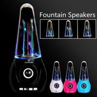 Cheap LED Light Dancing Water Speaker Fountain Music Soundbox for smart phone computer portable Speakers support TF FM Free shipping