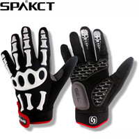 Wholesale New SPAKCT Bike Bicycle Long Finger Full Finger Cycling Riding Racing Gloves Skeleton XS XL Colors