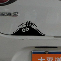 Wholesale New Reflective Waterproof Fashion Funny Peeking Monster Car Sticker vinyl decal decorate sticker