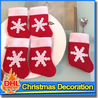 kitchen ware - Christmas Socks Cute Santa Sliver Ware Bag Festival Party Ornament For Kitchen Dinnerware Christmas Tree Decoration