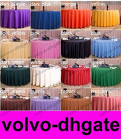 Wholesale Hotel restaurant tablecloth restaurant meeting sarong round table cloth color pink hot selling GALY687