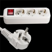 Wholesale DHL free convenient EU Plug V A Outlet Power Extension Socket Cable Wall Socket Mains Lead Plug Strip Adapter