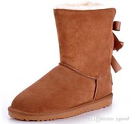 Wholesale dorp shipping Bow Bailey Australia Lady Cowskin leather snow boots winter shoes for women ds6f