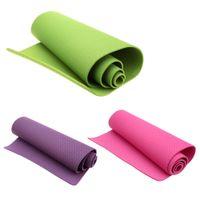 Wholesale Body Building Yoga Mats quot quot quot Lightweight TPE Yoga Pad Mat for Yoga Exercise Professional Fitness Equipment
