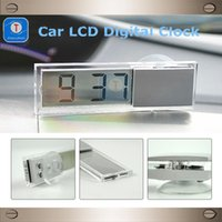 electronic clock timer - Hot Sales Auto Products Transparent Suction Cup Lcd Digital Clock Car Electronic Timer Car Clock Supplies