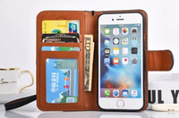 Wholesale For Iphone S Plus Leather Flip Case With Credit Card Holder Stand Wallet Phone Cases For Samsung s7 edge s6 edge note