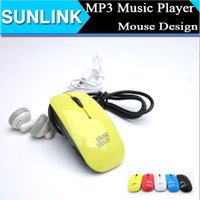 mouse card reader - In Stock Rechargeable Mouse Mini MP3 Music Player W TF card Slot USB Cable Earphone MP3 retail box