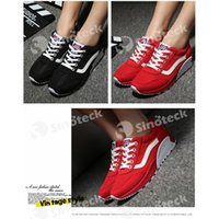 Wholesale Casual Shoes lace up Women Red White Black White via FedEx IE