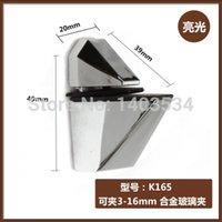 Wholesale 4pcs Chrome Finished Glossy Shiny Glass Clamp bracket Shelf Support Can clamp to mm