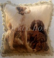 aubusson cushion - Aubusson woolen Cushion Pillow hand woven pillow with Velvet back invisable zipper no insertion