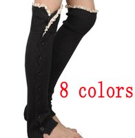 Wholesale Women lace button down Leg Warmers Ballet Dance Warm up knitted boot Gaiters Boot Cuffs ankle Socks Covers Leggings