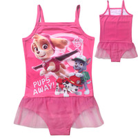 baby beachwear - Summer new baby girls paw dog patrol swimwear one piece children swimsuit cute kids bathsuit fashion beachwear swim wear girl swimsuit