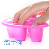 plastic basin - Acrylic Remover Container Gel off Nail Art Soakers Soak Soakers Cap Newest Nail Product Tool Salon DIY Nail Polish Basin High Quality