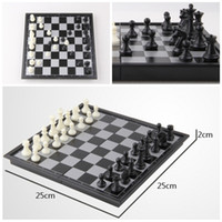 Wholesale kid s gift Folding Champions Chess Set in Travel Magnetic Chess and Checkers Set quot D714J