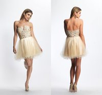 Ball Gown best new cocktails - Best Selling Little Bling Tulle Homecoming Dresses Crystal Beaded hort Cocktail Formal Party Girl New Prom Dress Graduation Party Gowns