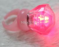 Wholesale Birthday Festival Party Lighting Toys Small Plastic Flashing Diamond Ring LED Glowing Finger Rings Nightclub Gadget