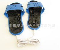 Wholesale Low frequency electrotherapy instrument slippers massage slippers blue pin one pair price a1003