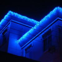 Wholesale Wedding LED Curtain String Light m m leds Icicle Background Christmas Party Holiday Fairy Light