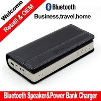 Wholesale power bank charger business stereo bluetooth speaker play mode Bluetooth micro SD Aux for iphone Samsung PC FM bluetooth speakers wireless