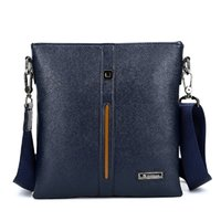 Wholesale Men PU Leather Single Shoulder Business bag Messenger bag Cross body Zip Bag Purse Case