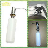 liquid soap - New Kitchen Bath Soap Dispenser Handsfree Plastic Stainless Steel Sink Liquid Pump Liquid Soap Holder Saboneteira