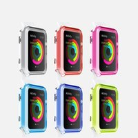Wholesale for Apple Watch Case colorful Ultra Thin Slim Crystal Clear Transparent PC Cover Skin For Apple Watch mm mm iwatch