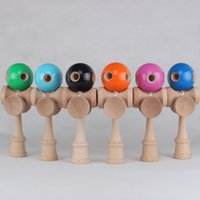 wooden ball - 2015 games new Holes Cups Kendama jumbo Ball Toy Japanese Traditional Wood Game Toy PU Paint Beech For Child Adult