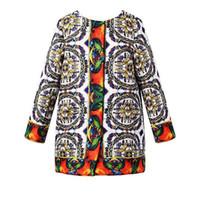american wheels - Girls Jackets Children Outerwear Coats Wheel Geometric Pattern Winter Kids Jackets Coats for Girls Children Coat Y