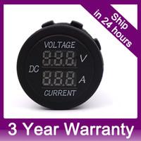 Wholesale Digital v to v Waterproof Marine Boat Motorbike Motorcycle Car Voltmeter Current Meter Power Supply Plug Socket Outlet order lt no track