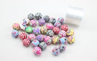 ceramic balls - 500pcs High Quality Assorted Colors mm Ball Round Fimo Polymer Clay Ceramic Spacer Loose Beads
