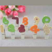 Wholesale 100 piece Creative Cute Digital Memo Clip Paper Clips Office Supplies party decorations kids gifts