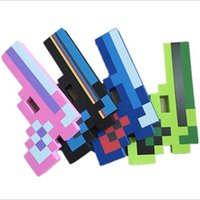 Wholesale Kids Toys Sword Pick Axe Gun Foam Mosaic Sword Game Props Model Toys Kids Toys Birthday Christmas Gifts E020