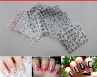 nail stickers - 2015 New Sheet set D Design Tip Nail Art Nail Sticker Nail Decal Manicure Mix Random Color Flower