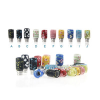 Wholesale 510 Thread Colored Glaze Drip Tips Glass Wide Bore Mouthpiece for eCig Atomizer Mechanical Mods Glass