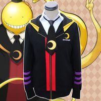 Wholesale Anime Assassination Classroom Korosensei Cosplay Costumes Pullover Unisex Women Men Hooded Sweatshirts Hoodies Coats